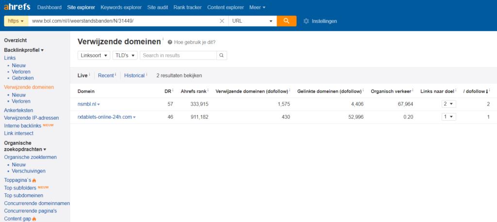 Concurrentie analyse voor backlinks 2020