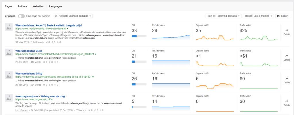 Content Explorer - Linkbuilding 2020