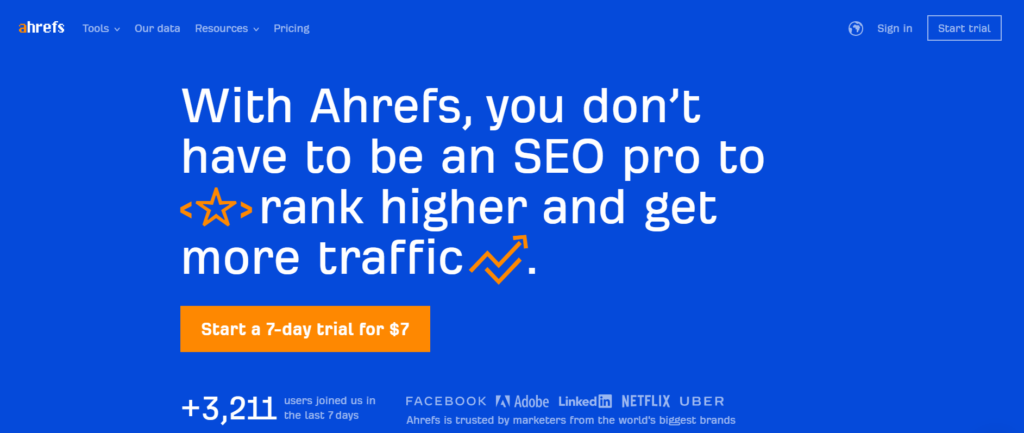Ahrefs - SEO management tool