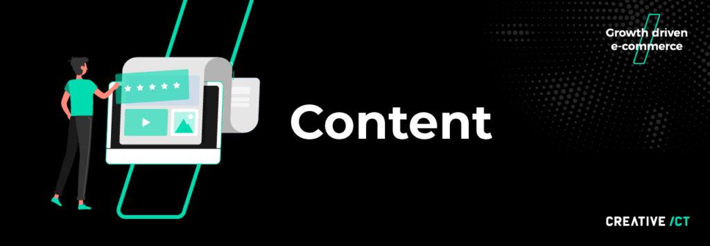 B2B webshop - content