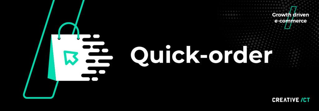 B2B webshop - quick order